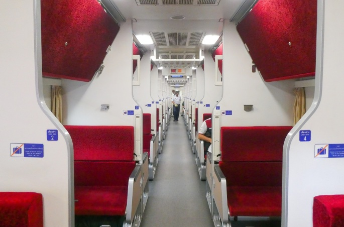 Bangkok sleeper train carriage.