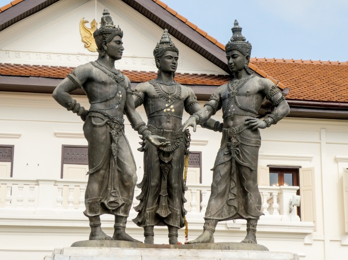 Three Kings monument in Chiang Mai