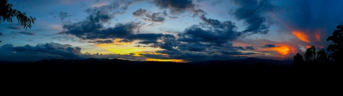 The Sunset from Wat Phra That Doi Kong Mu in Mae Hong Son