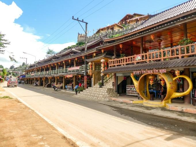 The tea shops in Ban Rak Thai in the hills near the Thai/Burmese border