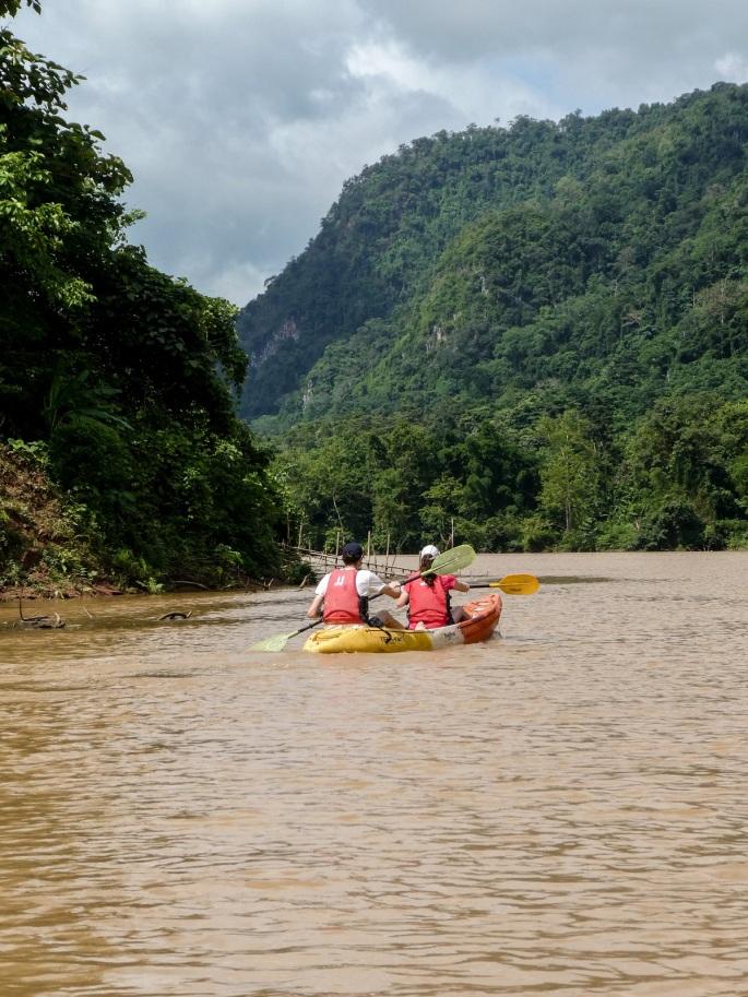 kayaking on the mekong