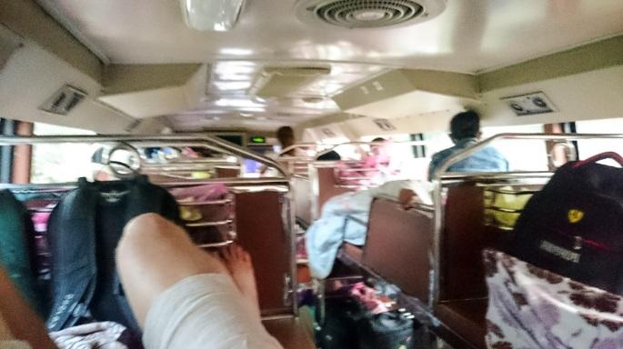 Sleeper bus Nong Khiaw to Vang Vieng